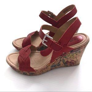 b.o.c. Born Concept Boise cork floral wedge sandal